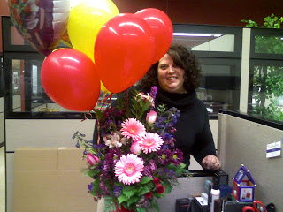 Our 16th anniversary. Flowers delivered to me at the office
