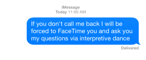 Kind of lost my mind and started sending my boss texts like this...